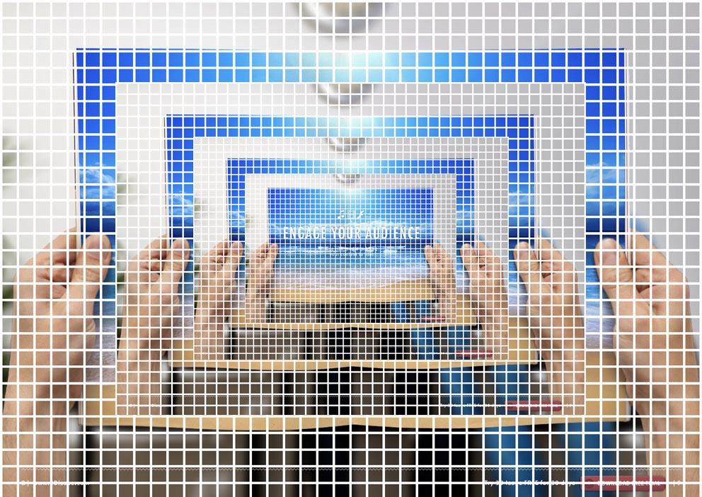 Comparison of tiled image sizes