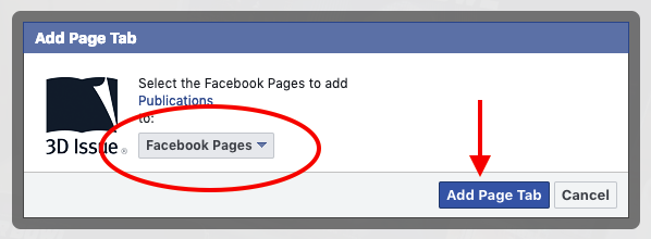 How do I add the Facebook App? - 3D Issue Knowledge Base